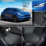 3D Maxpider Kagu Black Tesla Model Y 2020-2021 All Weather Floor Mats Liners