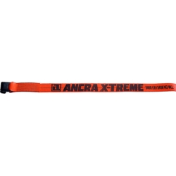 "Ancra 4"" x 27' Premium X-Treme Orange Winch Strap w/41766-18 Flat Hook, 43795-90-27"