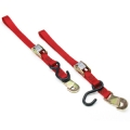 Ancra Original Red Snapper Tie Downs With Snap Hooks