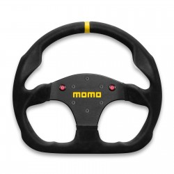 MOMO MOD 30 Steering Wheel With Horn Buttons, 320mm Suede, Flat Bottom