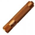 PowerTac E3 LED Keychain Flashlight, Gold with CREE XP-E LED 90 Lumens-Uses 1 x AAA