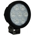 "4"" ROUND UTILITY MARKET BLACK WORK LIGHT SEVEN 3-WATT LED'S 10 DEGREE NARROW BEAM, 1,500 Lumens"