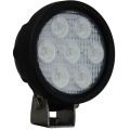"4"" ROUND UTILITY MARKET BLACK WORK LIGHT SEVEN 3-WATT LED'S 40 DEGREE WIDE BEAM, 1,500 Lumens"