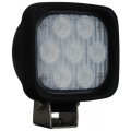 "4"" SQUARE UTILITY MARKET BLACK WORK LIGHT SEVEN 3-WATT LED'S 40 DEGREE WIDE BEAM, 1,500 Lumens"