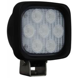 """4"""" SQUARE UTILITY MARKET BLACK WORK LIGHT SEVEN 3-WATT LED'S 40 DEGREE WIDE BEAM, 1,500 Lumens"""