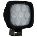 "4"" SQUARE UTILITY MARKET BLACK WORK LIGHT SEVEN 3-WATT LED'S 60 DEGREE EXTRA WIDE BEAM, 1,500 Lumens"